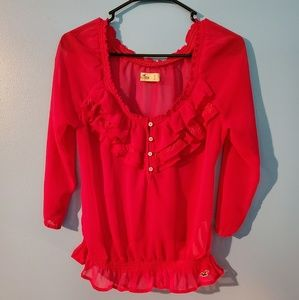 Hollister fuschia pink blouse.